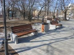 Закончены работы по благоустройству сквера имени Суханова во Владивостоке