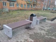 Продолжается благоустройство междворовых пространств Красноярска.