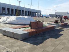 Закончено благоустройство международного терминала аэропорта в Красноярске