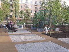 Благоустройство бульвара Победы в Омске.