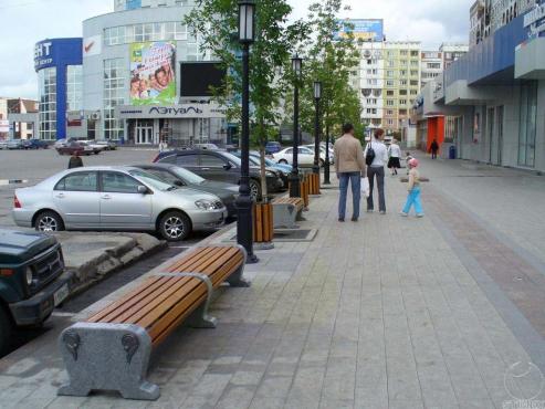 """Благоустройство прилегающей территории торгового центра """"Коммерсант"""""""