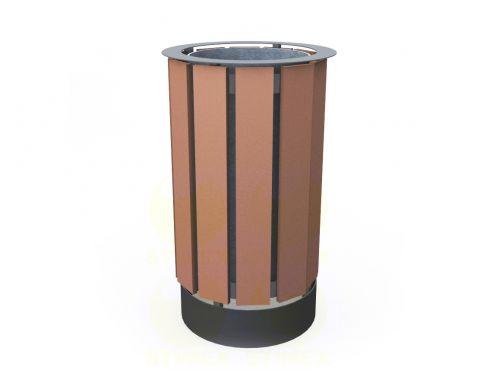 Металлическая урна для мусора уличная U14M5 (У14М5)