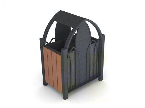 Металлическая урна для мусора U233 (У233)