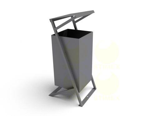 Металлическая урна для мусора уличная U252 (У252)