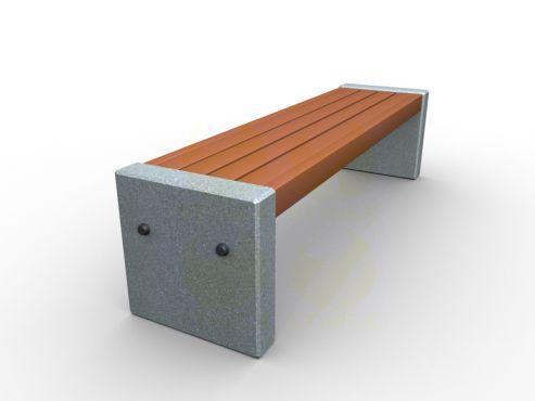 Скамья парковая C1-450mm (С1-450мм)  с бетонными боковинами