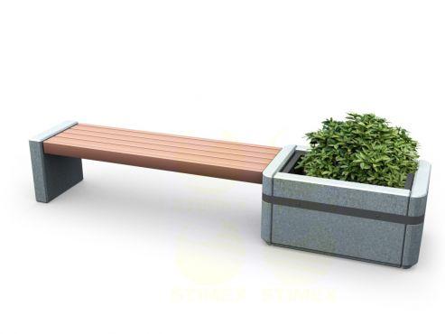 Скамья парковая C2M1 (С2М1) с бетонными боковинами