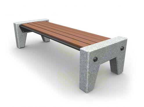 Скамья парковая C3 (С3) с бетонными боковинами