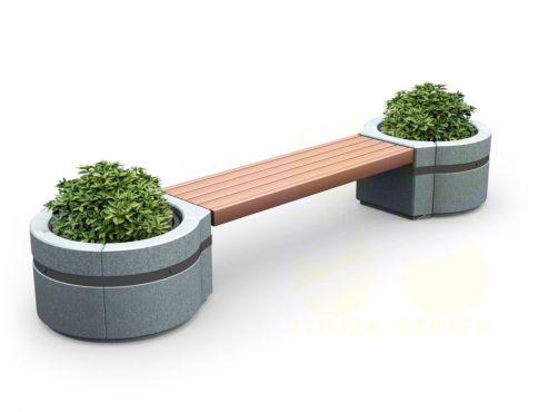 Скамья парковая C4 (С4) с бетонными боковинами
