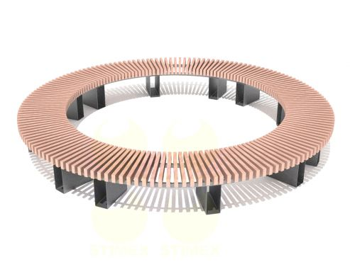 Скамья радиусная - круг С757РМ1
