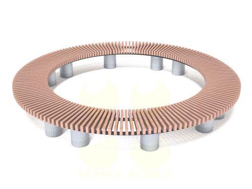 Скамья радиусная - круг С757РМ2