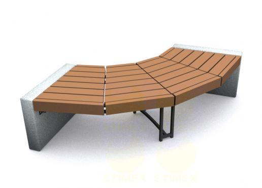 Скамья парковая C7 (С7) с бетонными боковинами