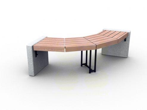 Скамья парковая C7-450mm (С7-450мм) с бетонными боковинами
