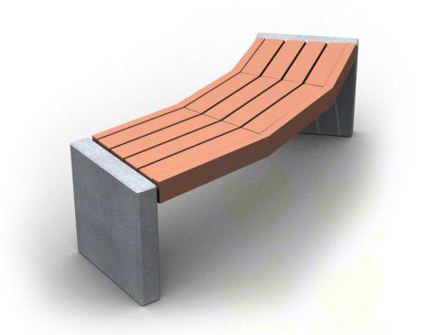 Скамья парковая C8-450mm (С8-450мм) с бетонными боковинами