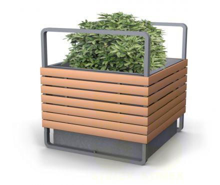 Кадка для дерева/кустарника Великан, металлическая с декором