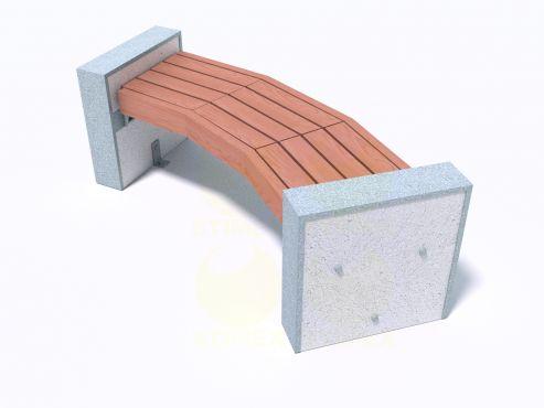 Скамейка парковая С708 с боковинами из декоративного композитного камня