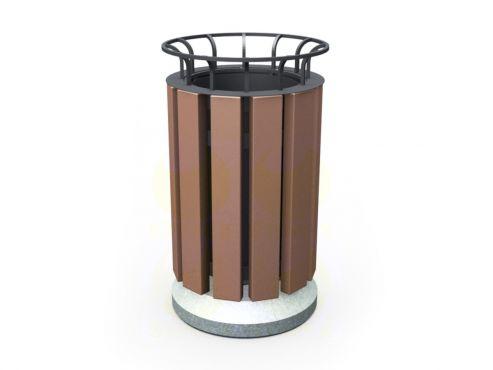 Урна для мусора уличная U11 (У11) с бетонными элементами