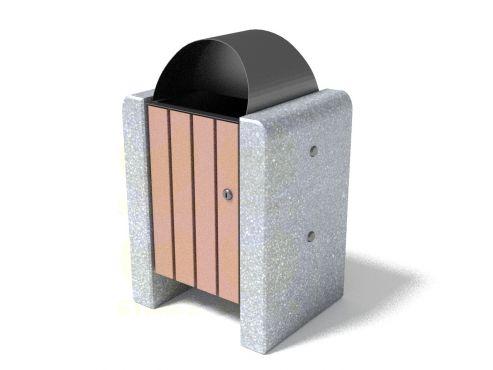 Урна для мусора уличная U1 (У1) с бетонными элементами