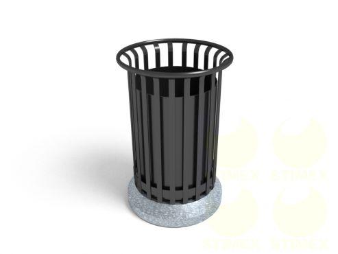 Урна для мусора уличная U24 (У24) с элементами из архитектурного бетона