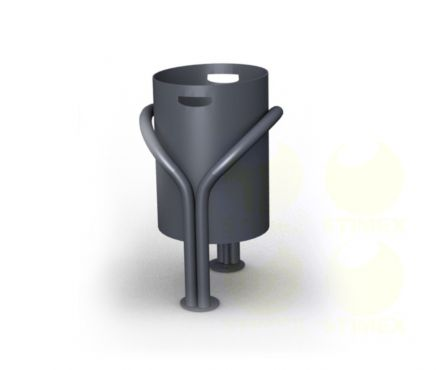 Металлическая урна для мусора U45 (У45)