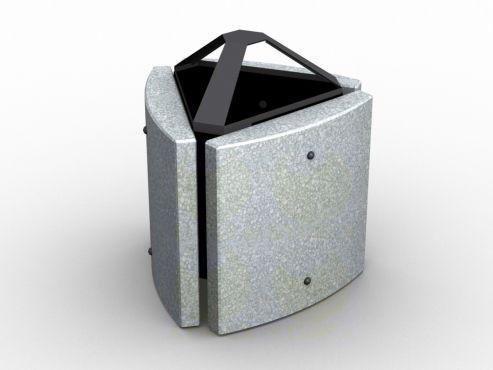 Урна для мусора уличная U6 (У6) с бетонными элементами
