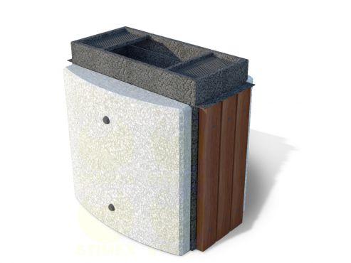 Урна для мусора уличная U9B (У9Б) с бетонными элементами