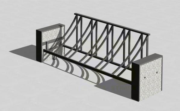 Велопарковка с боковинами из фактурного бетона В701
