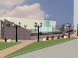 В Красноярске в сквере у ДК «Правобережный» идет сооружение фонтана