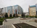 Завершаются работы по благоустройству сквера Строителей в Красноярске