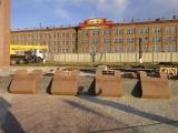 Возведение мемориального комплекса в честь 70-летия Победы входит в завершающую стадию.