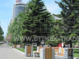 Замена уличной мебели на площади имени Чехова в Красноярске