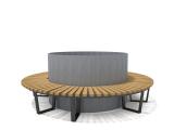 Скамья-вазон «Кольцо 1500 - 1»