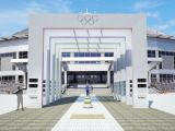 Продолжается строительство Аллеи Олимпийской славы в Красноярске