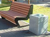 Урна для мусора уличная из бетона