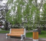 Замена уличной мебели на площади перед зданием администрации города Красноярска