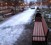 Благоустройство скверов в различных районах города Красноярска