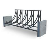 Велопарковка V2-450mm_bet (В2-450мм) с бетонными элементами
